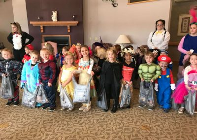 Trick or treating class pic